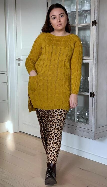 Love From Paris Leopard Leggins Camel LM 200-69