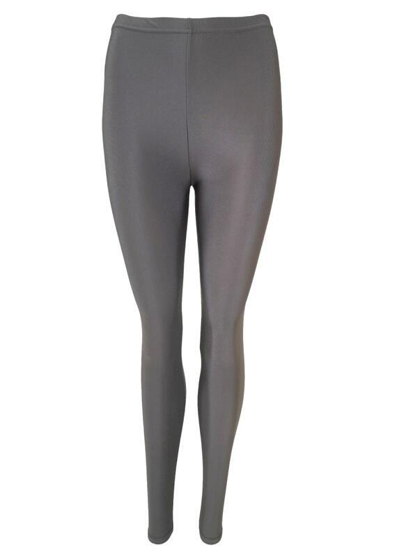 Black Colour GAYA Glossy Leggins Grå 2205
