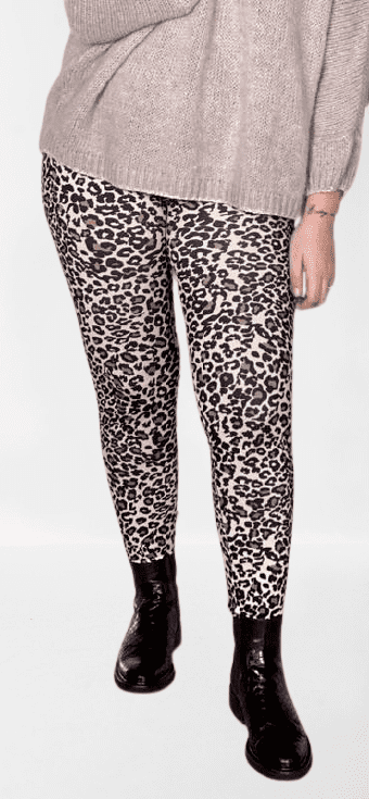 Love From Paris Leopard Leggins Beige LM 200-69