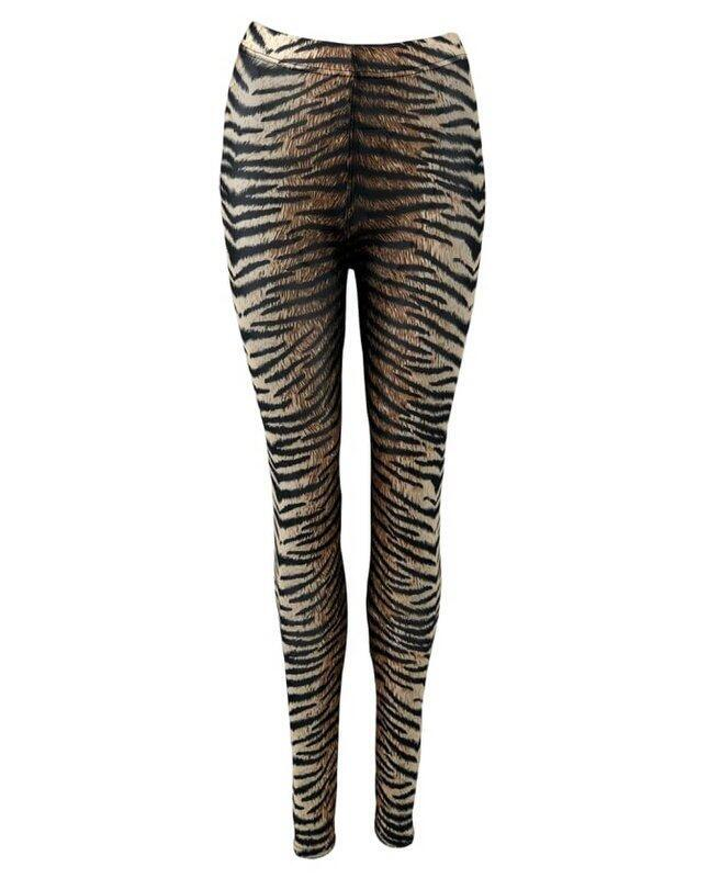 Black Colour ANNIE Mesh Leggings Tiger 2201